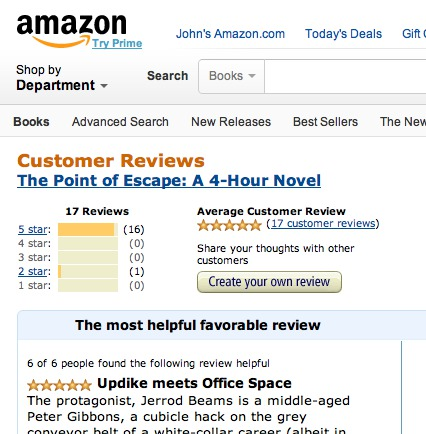 Amazon P.O.E. Review Page