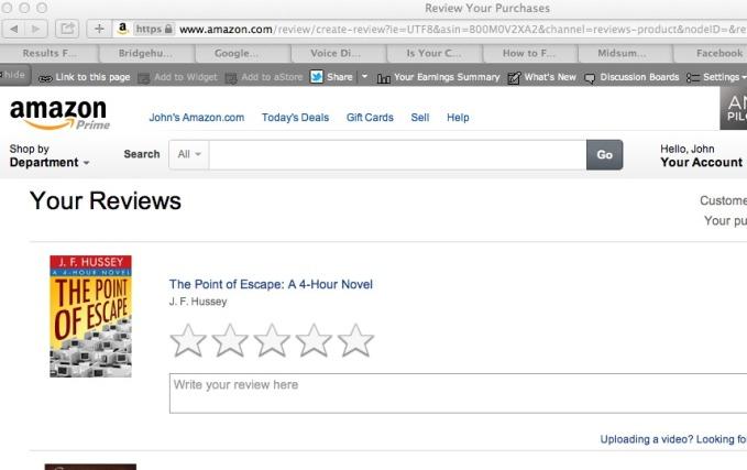 Amazon P.O.E. Your Reviews Page